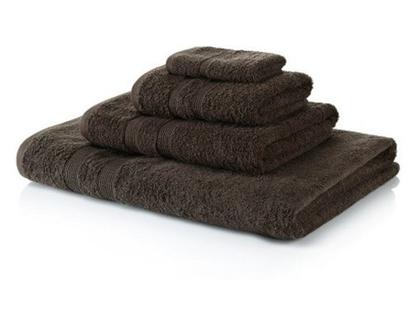 """מגבת גוף 100% כותנה מיצרית (600 גרם למ""""ר) - צבע חום"""