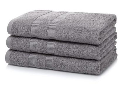 """מגבת גוף 100% כותנה מיצרית (600 גרם למ""""ר) - צבע אפור"""