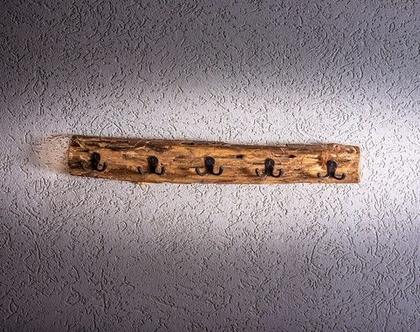 מתלה עץ חמישה מתלים מעוצב