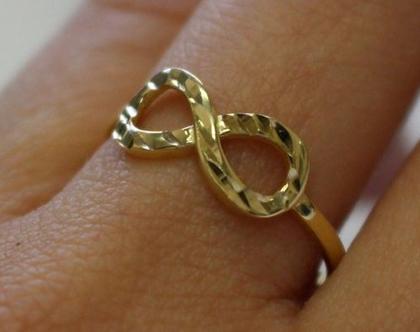 טבעת זהב אינפיניטי 14 קרט מיוחדת