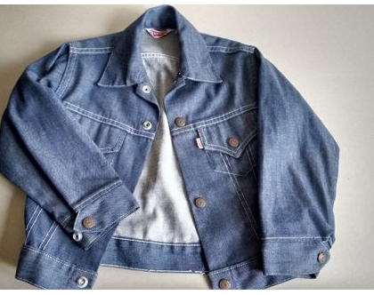 ג'קט ג'ינס LEVI'S ליוויס לילד/ה BIG E   ג'קט ג'ינס נדיר לילדים וינטג' מקורי סיקסטיז