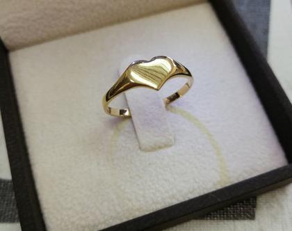 טבעת לב, זהב 14K