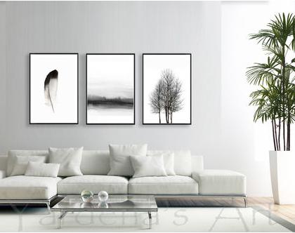 סט תמונות אבסטרקט - עיצוב מקורי |עיצוב נורדי| סט תמונות בעיצוב מינימליסטי | תמונות לסלון | תמונות שחור לבן|תמונות לעיצוב המשרד
