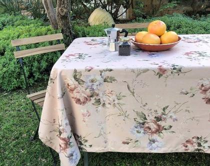 """מפת שולחן - דגם """"אביב"""" ורוד"""