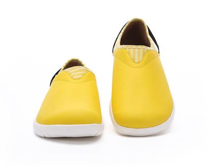 נעלי בד אופנתיות צהובות מושלמות ליום לימודים ארוך נוחות במיוחד לנשים