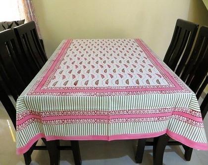 מפת שולחן מלבנית 150*220 שלכת ורודה