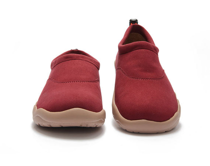 נעלי בד אופנתיים בורדו אדום נוחים יצירתיים אומנותיים ומושלמים לאימהות ולילדים