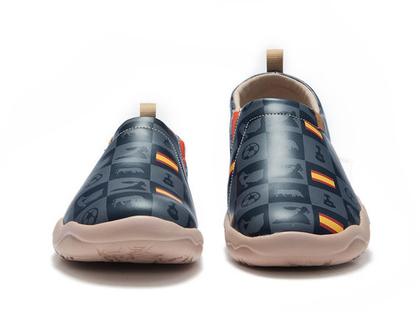 נעלי בד לבנים אופנתיים אומנותיים מיוחד לגברים שאוהבים אופנה אומנות וסניקרס