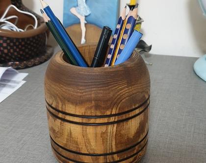 לכלי כתיבה מעץ עבודת יד - 16002