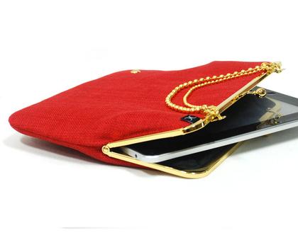 תיק אייפד ''9 - אדום זהב