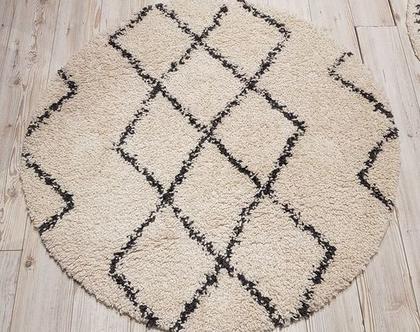 שטיח שאגי עגול קלאסי