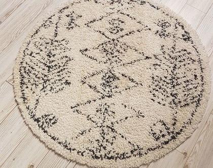 שטיח שאגי סקנדינבי עגול
