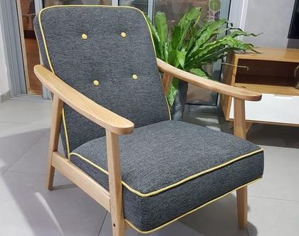 כורסא מעוצבת בגווני אפור