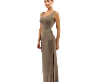 שמלת מקסי / שמלה חומה