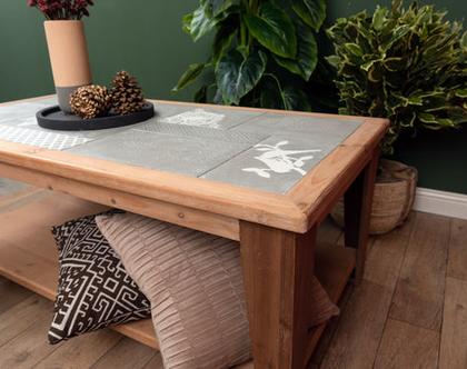 שולחן לסלון מעץ