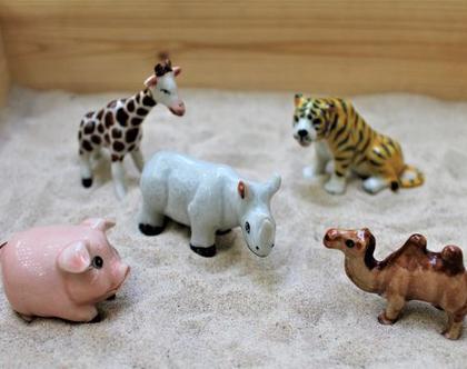 חיות מיניאטורות מפורצלן