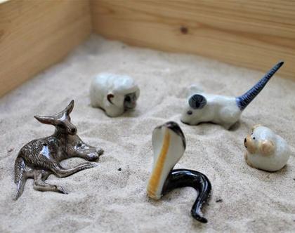 חיות מפורצלן