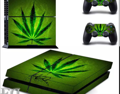 סטיקר PS4 CANNABIS