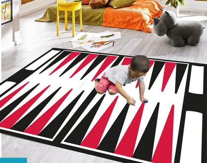 שטיח ויניל דגם שש בש | שטיח pvc רך | שטיח לחדרי ילדים ענק 1.2X1 מטר