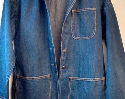 ג'קט LEVI'S ג'ינס ליוויס דגם FARMERS MECHANICS | ג'קט ג'ינס לאישה מידה M