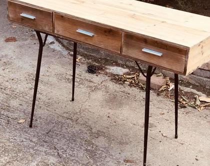 שולחן כתיבה רגלי ברזל (לפני חידוש)