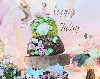 שולחנות מתוקים לימי הולדת לילדים / למבוגרים / לאירועים, שולחן מתוק פיות, עיצוב שולחן מתוק ליום הולדת, יום הולדת פיות, מקדמה: