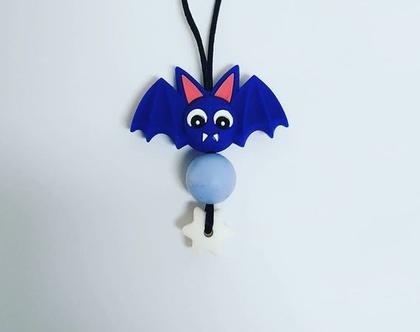 שרשרת סיליקון לילדים דגם עטלף קטן