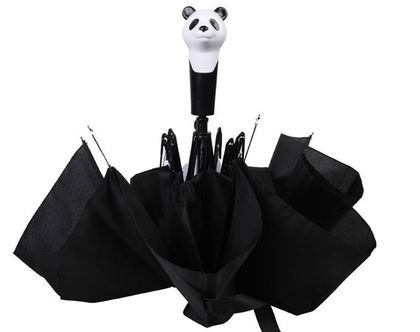TP299 | מטרית פנדה מתקפלת | מטרייה מעוצבת | מתנה מקורית | מתנה ייחודית | חורף חם