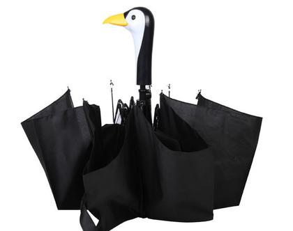 TP300 | מטרית פינגווין מתקפלת | מטרייה מעוצבת | מתנה מקורית | מתנה ייחודית | חורף חם
