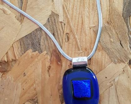 תכשיטים מקוריים שרשרת עם תליון כחול סילבינה עיצובים בנימינה