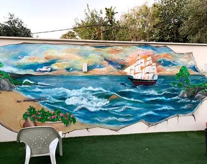 ציורי קיר לעיצוב בית ועסק בהתאמה אישית