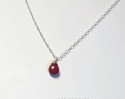 תליון אבן רובי ושרשרת כסף או זהב גולדפילד, אבן רובי וכסף, תכשיטי רובי, תכשיטים אנרגטיים