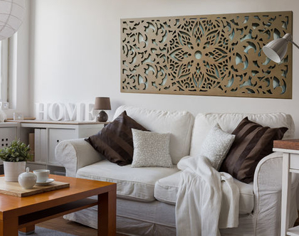 דקורציה לקיר TRENZA, משרביה מעץ