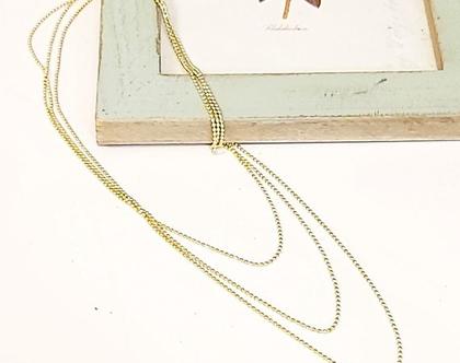 שרשרת גולדפילד ארוכה עדינה. תכשיטים בזהב. שרשרת זהב ארוכה. שרשרת שכבות. שרשרת וינטאג'. שרשרת קלילה פשוטה.