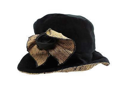 כובע קטיפה בסגנון צרפתי