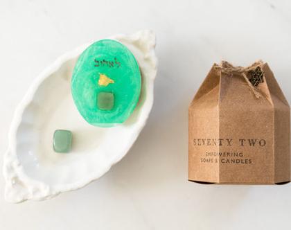 4th Chakra Soap【סבוני צ׳אקרות עם קריסטל】
