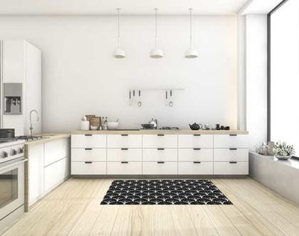 שטיח ויניל דגם Art Deco | שטיח pvc מעוצב | שטיח למטבח | שטיח pvc לבית