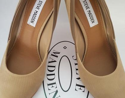 נעלי עקב בג קאמל - של STEVE MADDAM - מידה 37.5