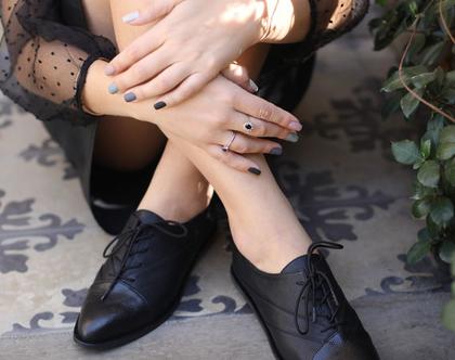 נעלי אוקספורד שחורות - torino
