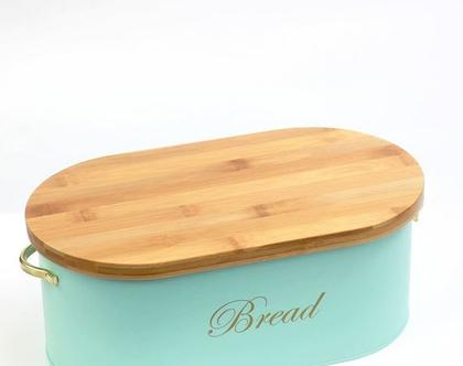 ארגז לחם - מעוצב בצבע טורקיז | ארגז לחם מעוצב | ארגז לחם בצבע טורקיז