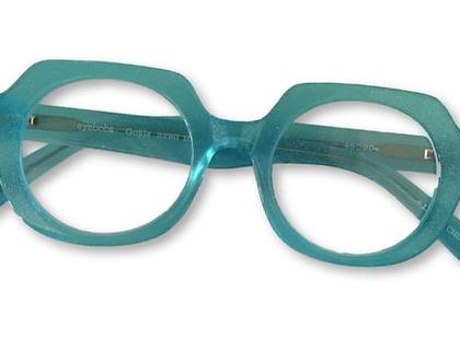 משקפיי קריאה מעוצבים, משקפיי אייבובס, משקפיי קריאה, משקפיים בגוון טורקיז