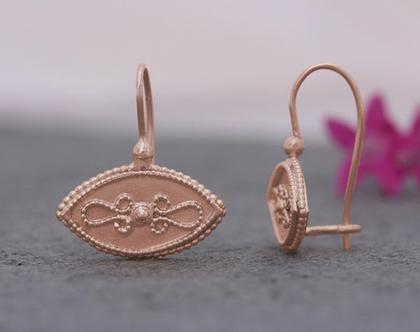 עגילי זהב אדום, עגילים זהב תלויים, עגילי זהב סגנון עתיק, עגילי זהב מרשימים עגלי זהב לאשה, עגילים עדינים, עגילי זהב 14 קרט, עגילי מעצבים