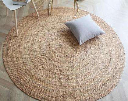 שטיח חבל טבעי בעבודת יד - גדלים לבחירה