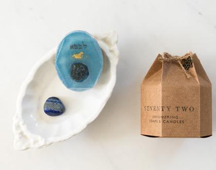 5th Chakra Soap【סבוני צ׳אקרות עם קריסטל】