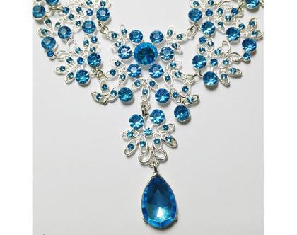 סט עגילים ושרשרת לערב   סט תכשיטים מעוצב   סט שרשרת ועגילים   תכשיטים לאירוע  