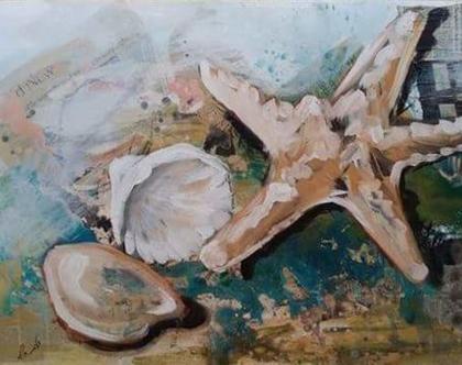 -גלית חוף-ציור מקורי - seashell -2014-