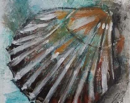 -גלית חוף-ציור מקורי - Shell-2013-