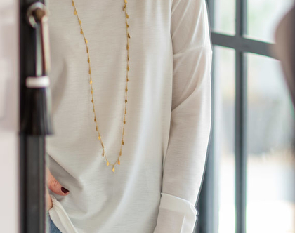 חולצת נשים לבנה ארוכה, מידות S-XXL, חולצה עם מחשוף סירה, חולצה ליום יום, חולצה לעבודה, חולצה לערב, חולצת נשים חורפית, חולצה מיוחדת