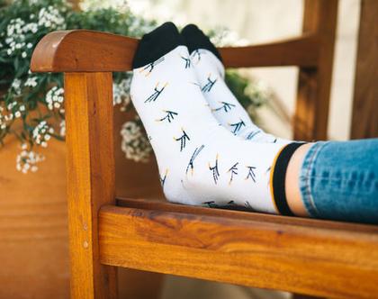 גרביים מעוצבים - לוגו מרחף
