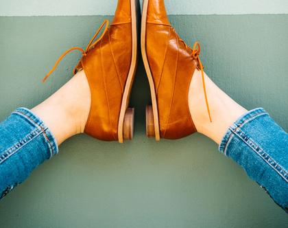 נעלי אוקספורד - torino caramel